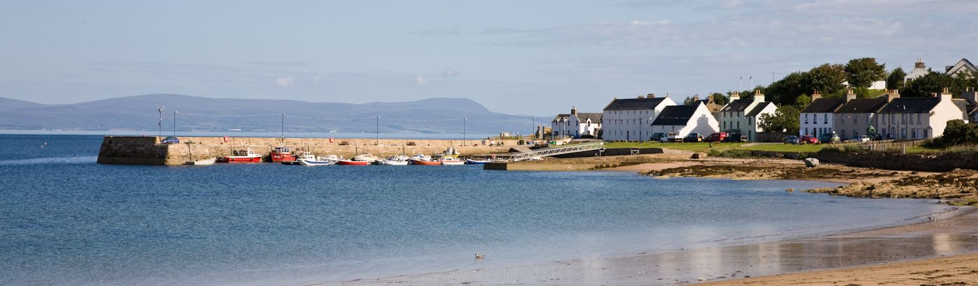 village of Portmahomack in Scotland