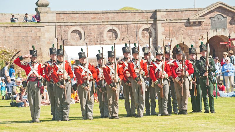 Re-enactment day at Fort George