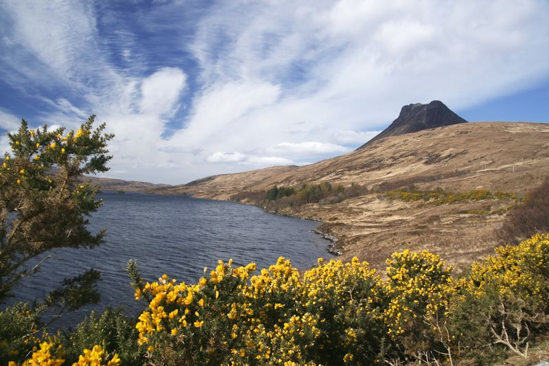 Stac Pollaidh mountain in Wester Ross